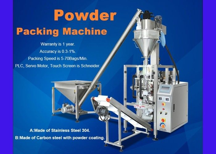 Flour Auger Filler Packing Machine 5 - 50 Bags / Min Packing Speed